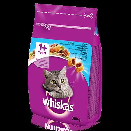 Whiskas 1+ sausas ėdalas su tunais, 300 g