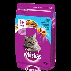 Whiskas<sup>®</sup> 1+ sausas ėdalas su tunais, 950 g