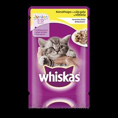 Whiskas<sup>®</sup> Junior konservuotas ėdalas katėms su vištiena 100 g