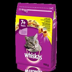 Whiskas<sup>®</sup> 7+ sausas ėdalas su vištiena, 950 g