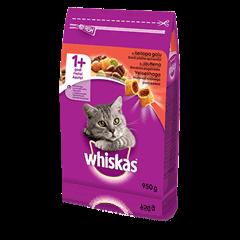 Whiskas<sup>®</sup> 1+ sausas ėdalas su jautiena, 950 g