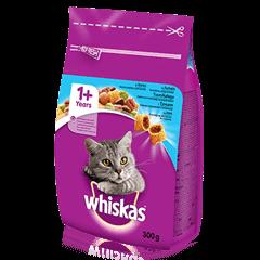Whiskas<sup>®</sup> 1+ sausas ėdalas su tunais, 300 g