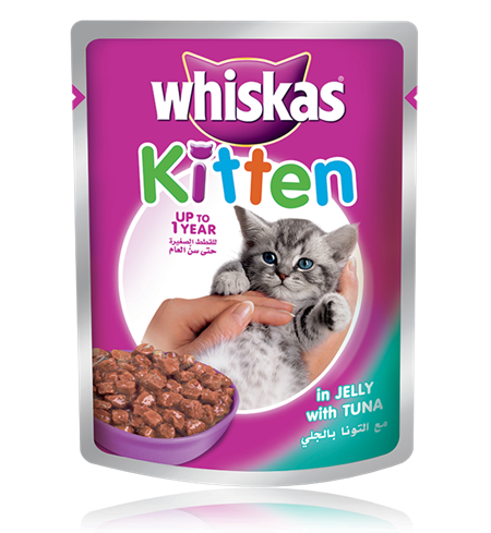 Whiskas® Kitten pouch with Tuna in Jelly