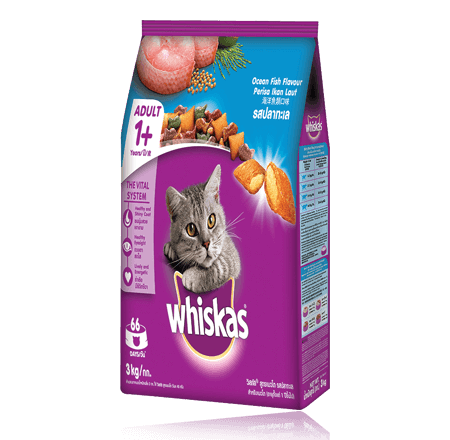Whiskas® Dry Food Adult with Ocean Fish - 3kg