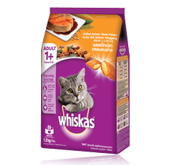 Whiskas® Dry Food Adult with Grilled Salmon Steak - 1.2kg