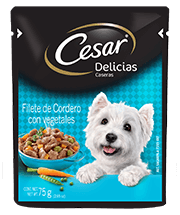 CESAR® Delicias Caseras Filete de Cordero con Vegetales