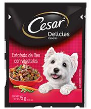 CESAR® Delicias Caseras Estofado de Res con vegetales