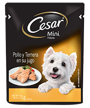 CESAR® Mini Fillets  Pollo y Ternera en su jugo