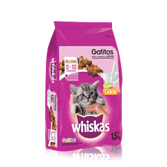 WHISKAS® Gatitos Pollo, Cereales y Leche