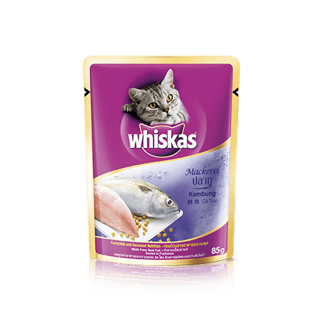 Mackerel Wet Cat Food Pouch from Whiskas for Adult 1+ Cats