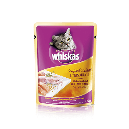 Seafood Cocktail Wet Cat Food Pouch from Whiskas for Adult 1+ Cats