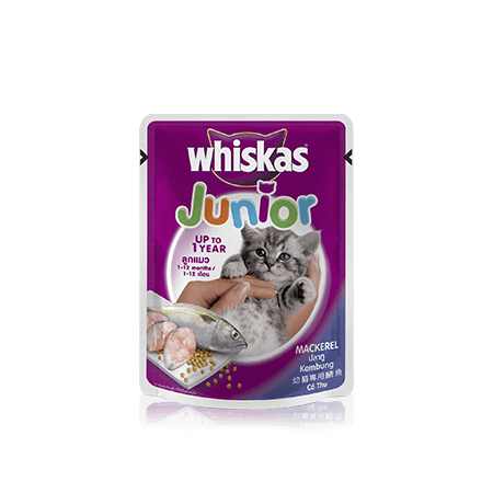 Mackerel Wet Kitten Food Pouch from Whiskas for Junior Cats