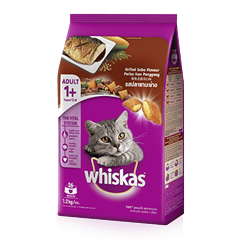 Grilled Saba Dry Cat Food from Whiskas for Adult 1+ Cats