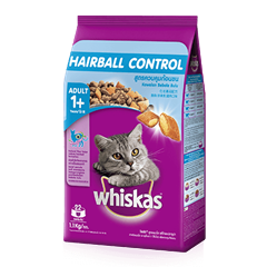 Hairball Control Chicken & Tuna Dry Cat Food from Whiskas for Adult 1+ Cats