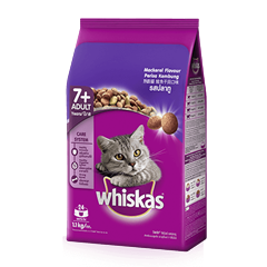 Whiskas® Dry Adult 7+ Mackerel Flavour Cat Food