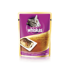 Grilled Saba Wet Cat Food Pouch from Whiskas for Adult 1+ Cats