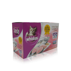 Tuna & Mackerel Multipack Wet Kitten Food Pouch from Whiskas for Junior Cats
