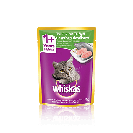 Tuna & Whitefish Wet Cat Food Pouch from Whiskas for Adult 1+ Cats