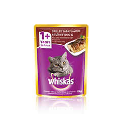 Whiskas® Pouch Adult 1+ Grilled Saba Flavour  Cat Food