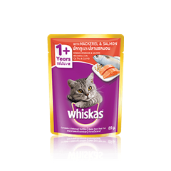 Whiskas® Pouch Adult 1+ Mackerel & Salmon Cat Food