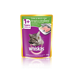 Whiskas® Pouch Adult 1+ Tuna & WhiteFish Cat Food