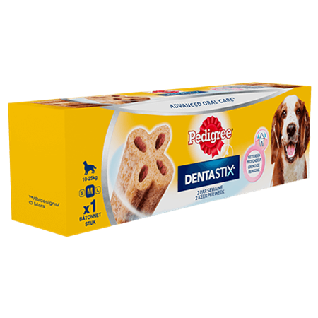 PEDIGREE® DentaStix™ 2 keer per week Medium