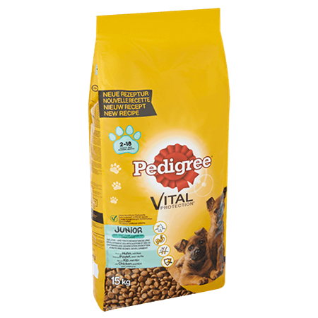 PEDIGREE® VITAL PROTECTION™ Maxi Junior Kip & Rijst 15kg