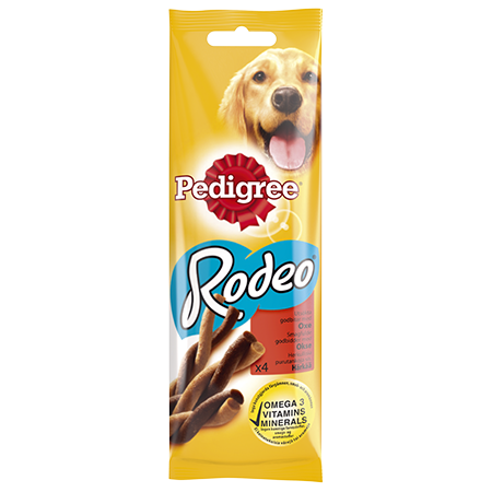 PEDIGREE®<sup>®</sup> Rodeo Oksekjøtt 4 pack