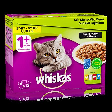 Whiskas® 1+ Mix menu i sovs