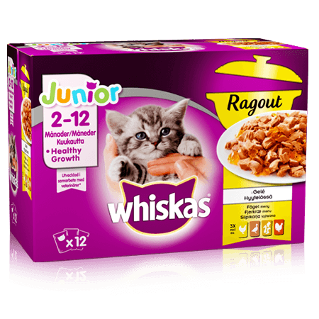 Whiskas Junior Ragout Fjærkræ Menu