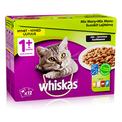 Whiskas® 1+ Mix menu i sovs