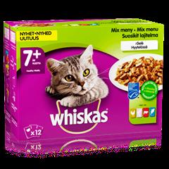 Whiskas® 7+ Fisk-& Kjøttmeny i Gelé