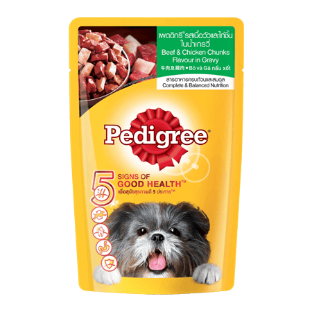 PEDIGREE<sup>®</sup> Pouch Adult Beef & Chicken
