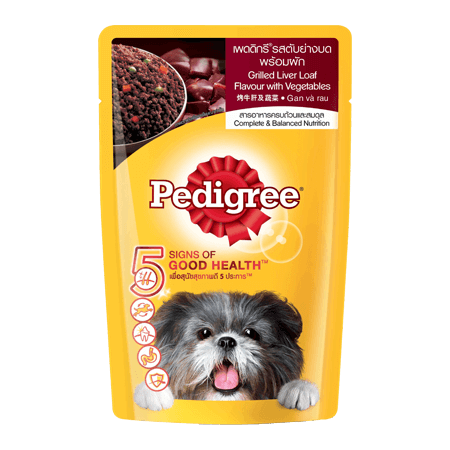 PEDIGREE<sup>®</sup> Pouch Grilled Liver Loaf & Vetgetables