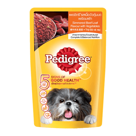 PEDIGREE<sup>®</sup> Pouch Simmered Beef Loaf & Vegetables