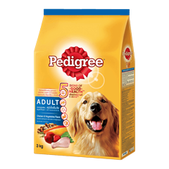 PEDIGREE® Dry Adult Chicken & Vegatables Flavour