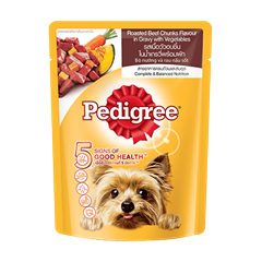 Pedigree® Pouch Adult Roasted Beef Chunks in Gravy with Vegetables