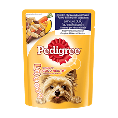 Pedigree® Pouch Adult Roasted Chicken & Liver Chunks in Gravy with Vegetables