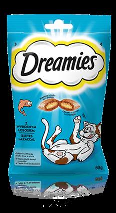 Przysmaki dla kota Dreamies® z Wybornym Łososiem