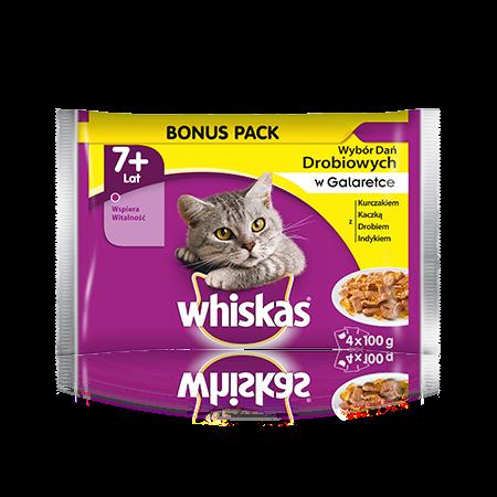 Whiskas wybór dań drobiowych w galaretce. 7+