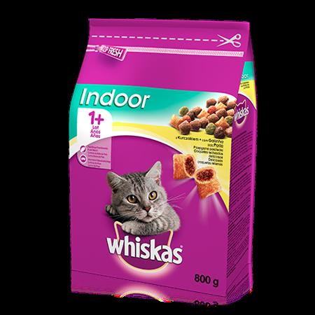 Whiskas sucha karma Indoor z kurczakiem <br/>800 g. 1+