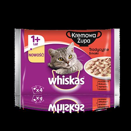 Whiskas zupa kremowa. Tradycyjne smaki. 1+