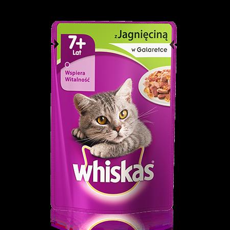 Whiskas saszetka z jagieciną w galaretce.7+