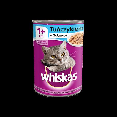 Mokra karma dla kota 1+ WHISKAS® 1+ z Tuńczykiem w Sosie, 400 g