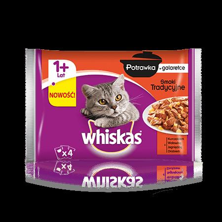 Whiskas potrawka smaki tradycyjne w galarecie. 1+