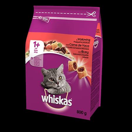 Karma sucha dla kota 1+ WHISKAS® z Wołowiną 800 g