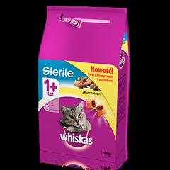 Whiskas<sup>®</sup> sucha karma Sterile z kurczakiem <br/>1,4 kg. 1+