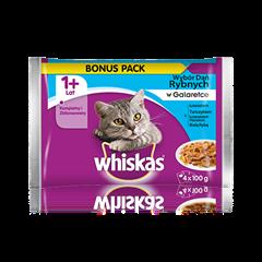 Whiskas<sup>®</sup> wybór dań rybnych w galaretce.1+