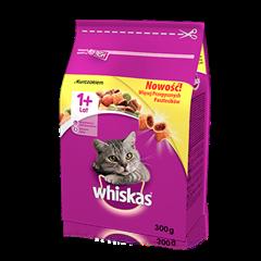 Whiskas<sup>®</sup> sucha karma z kurczakiem 300g. 1+
