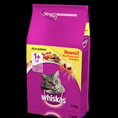 Whiskas<sup>®</sup> sucha karma z kurczakiem 1,4 kg. 1+